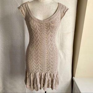 Victoria's Secret Vintage 90s Boho Crochet Dress